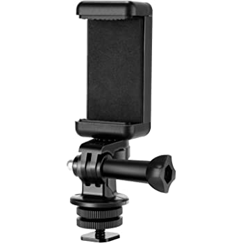Neewer Phone Holder / Hot Shoe Mount Adapter Kit for Action Camera GoPro Hero 9 8 7 6 5, DJI OSMO Action, iPhone 11 Pro Max X 8 7 Samsung, Attaching on DSLR Camera or Ring Light