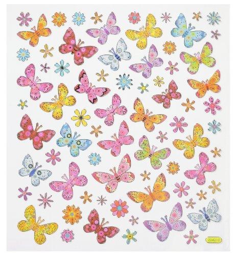 Hobbyfun Hobby-Design Sticker Schmetterling II Bogen 15,5 x 17 cm