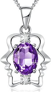 Zodiac Constellation Necklace, Crystals from Swarovski, 12 Zodiac Horoscope Charms Crystal Pendant Necklace Jewelry, Birthday Birthstone Gifts for Women, 20
