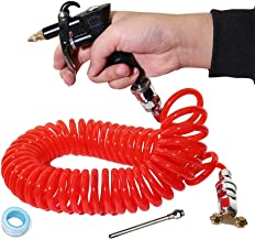KOOTANS General Air Seat Blow Gun Kit with 29 FT Long Air Hose, Heavy Duty Truck Duster Blow Gun Dust Cleaner Cleaning Tool for Car Lorry Truck