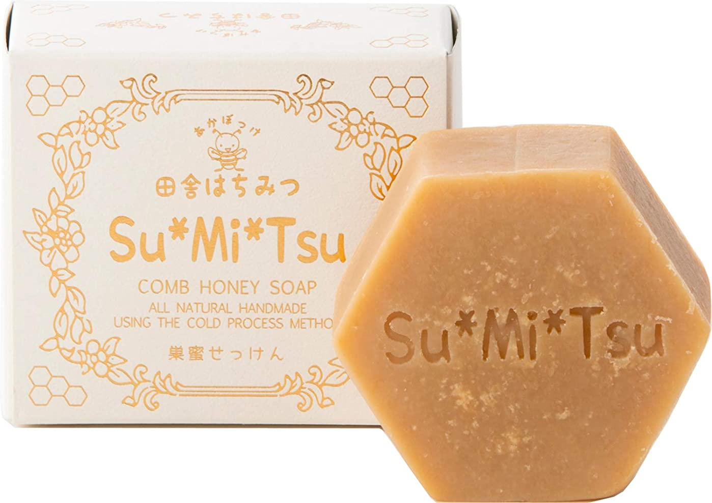 後ろ、背後、背面(部重大許可するSuMiTsu 巣蜜せっけん ハチミツ『6.5%』 国内 手作り コールドプロセス 製法