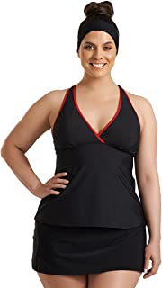 Always For Me Timothy Snell Women's Plus Size Charlie Surplice Racerback Tankini Top - Ladies' Swimwear