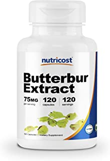 Nutricost Butterbur Extract Capsules (75mg) 120 Capsules - Gluten Free and Non-GMO