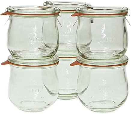 Weck 746 1/5 Liter Tulip Jar,  12.5 Oz - Set of 6