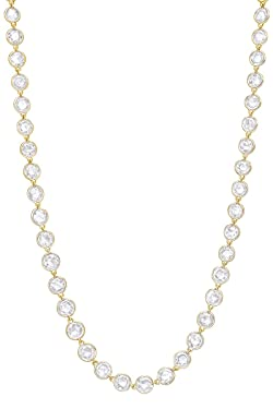 Rose-Cut Antique-Cut Diamond Chain Necklace IN 18k Solid Gold (16.29 cttw)