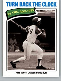 2018 Topps Archives Baseball #319 Hank Aaron Atlanta Braves Rare Short Print SP