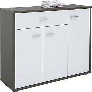 Meuble De Rangement Hauteur 140 Cm.Amazon Fr Meuble Buffet Moderne