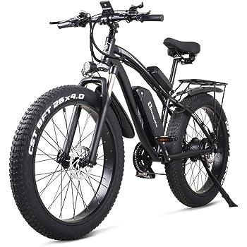 Shengmilo Bicicletas Electricas Bicicleta e-Bike Montaña Electrica e Bike Ciudad Electrica Adulto Hombre 1000W Moto 48V 26 Pulgadas* 4.0 Fat Neumático Shimano 21 Velocidad Frenos de Disco Hidráulicos: Amazon.es: Deportes y aire