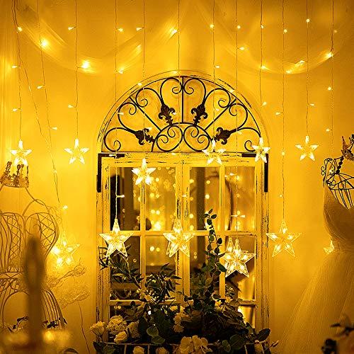 Guirnaldas Luminosas Estrellas Cortina Luces, 138 LEDs telon