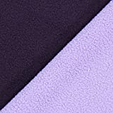 Fabulous Fabrics Fleece aubergine, Uni, 145cm breit –