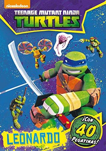 Las Tortugas Ninja. Leonardo. Actividades con pegatinas