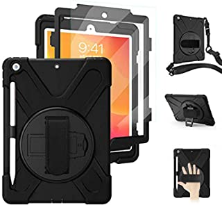 iPad 9th 8th Generation Case Cover iPad 7th Generation Case 10.2 with Pencil Holder Screen Protector | Herize iPad 10.2 In...