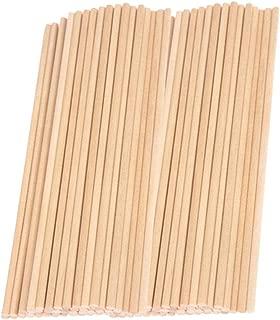 100pcs Woodcraft Sticks,12 Inch Bamboo Dowel Rods Craft Sticks, Long Round Wooden Sticks for DIY Woodworking, Building Model, Home Garden Decoration, DIY Craft Projects, 6mm Diamter