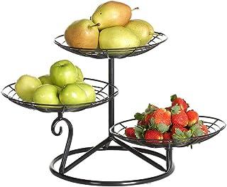 Fruit Plate Salon 3 couche Fruit Bowl Plate européenne des ménages fruits secs Simple Moderne Creative Fruit Basket AOIWE