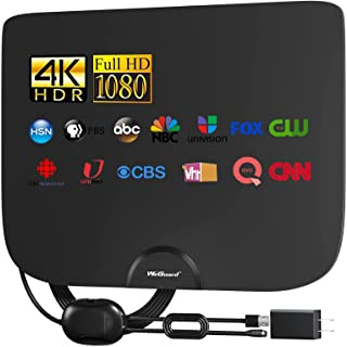 2021 TV Antenna, Indoor Amplified Digital HDTV Antenna, 90-120 Miles Range Signal Booster for 4K 1080p Fire TV Stick Local...