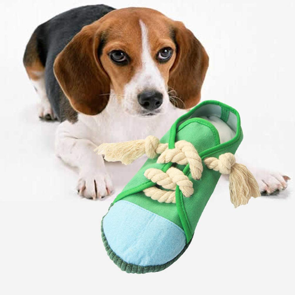 Dog Educational Toy Slipper Shaped Sound Toy Squeaky Toy for Pet iplusmile Dog Chew Toy Prevent from Destroying your Shoes Tear Resistant
