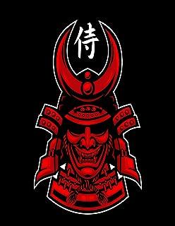 Eaiizer Poster Wall Art Print Warrior Ronin Samurai Japanese Skull Bushido Face Japan Armor 16x24 Inches Artwork for Home Bedroom Decor