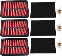 Trustsheer (Pack of 3 Air Filter for Honda GX610 GX620 GX670 GXV610 GXV620 GXV670 Engine Replace 17210-ZJ1-841 17210-ZJ1-842 17218-ZJ1-840 with Pre Filter Fuel Filter