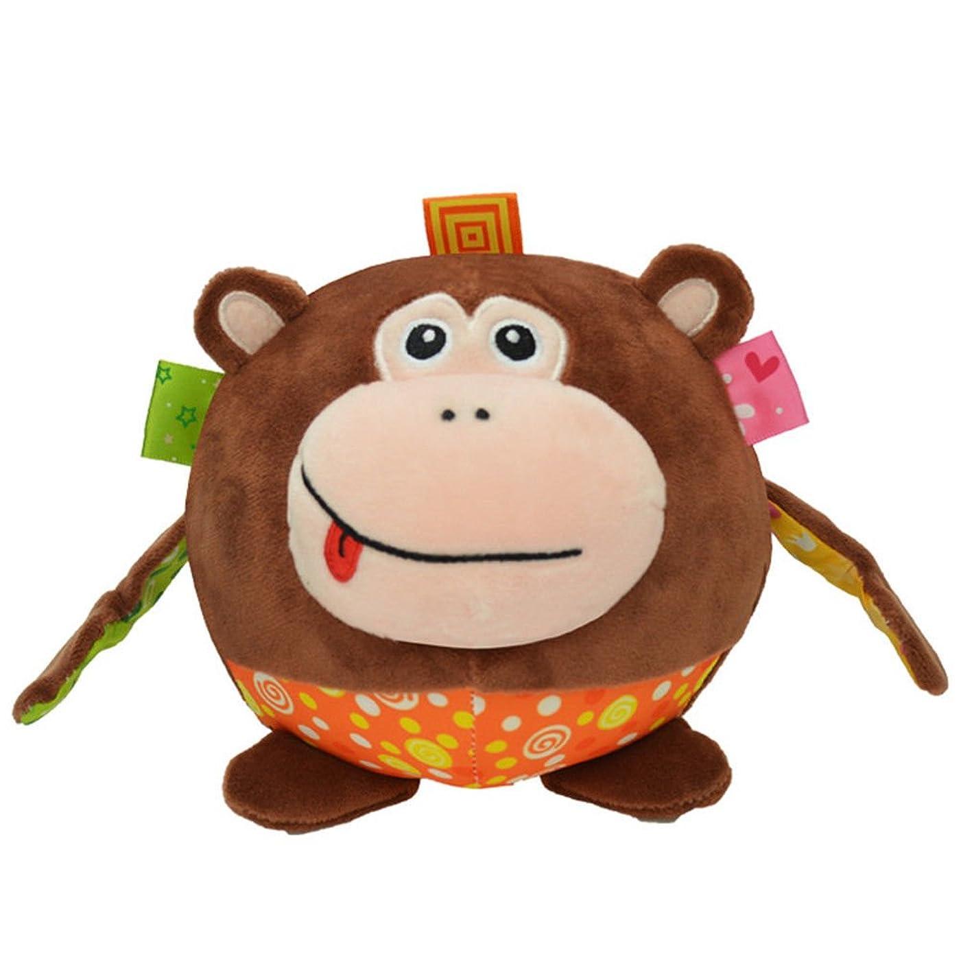 是正大聖堂高層ビルmonomono-image Vividキュート子供キッズ3d動物形状ボールおもちゃ( Monkey )