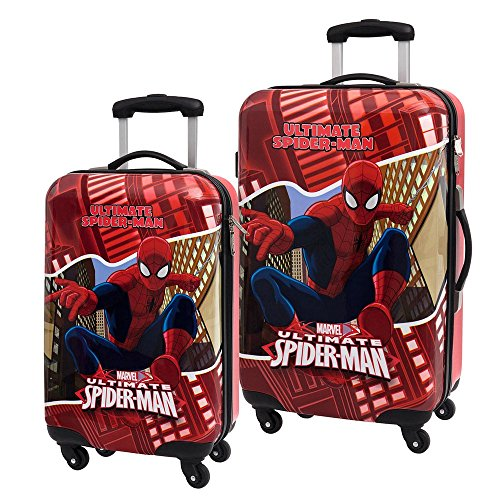 MARVEL Spiderman Set de Bagage, 67 cm, Rouge