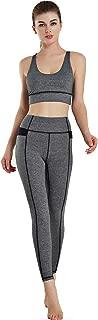 Women's 2 Piece Outfits Cross Sexy Tops Long Pants Leggings Workout Gym Yoga Sets