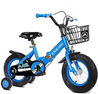 "TWTD-TYK Kid's Bike,Children's Bike, Kids Bike,Fold Children Scooter Bicycle,Toddler Training Bike in Size 12"" 14"" 16"" 18"" for 2-8 Years Old,Training Wheels & Hand Brakes"