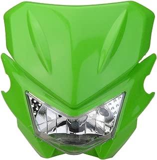 GOOFIT Motorcycle Dirt Bike Universal Headlights Fairing Light Headlamp for KX125 KX250 KXF250 KXF450 KLX200 KLX250 KLX450 Green