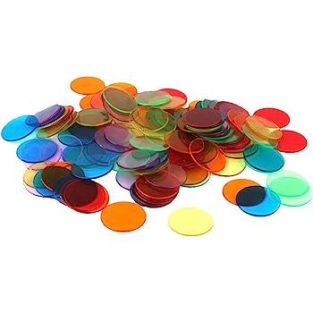 120pcs Chips Fichas Marcadores para Juego de Bingo 6 Colores 3cm ...