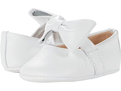 Elephantito Baby Ballerina w/ Bow (Infant/Toddler) (White 1) Girls Shoes