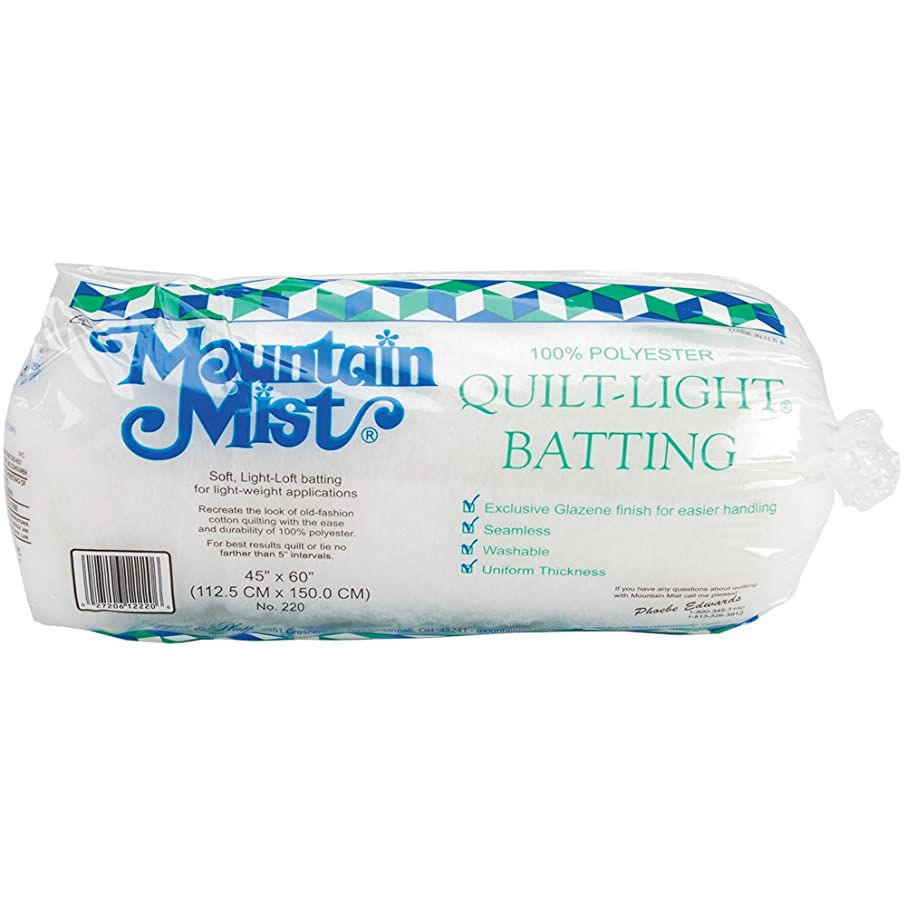 Mountain Mist Quilt-Light Polyester Batting, Crib/Craft 45-inch-by-60-inch