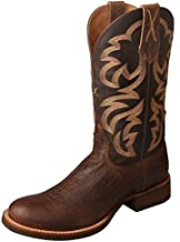 Twisted X Men's Rancher Boot, Color: Crazy Horse Tobac/Crazy Horse Taupe, Size: