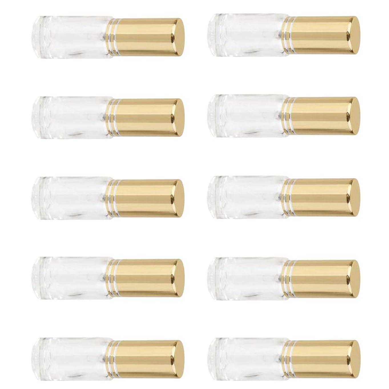 何故なのしょっぱい出力Fenteer 5ml ガラス 香水瓶 容器 詰め替え可能 男女兼用 ミニ  香水 アトマイザー ポンプ スプレー  10個入り