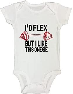 "Funny Boys Workout Gym Onesie Shirt ""I'd Flex But I Like This Onesie"