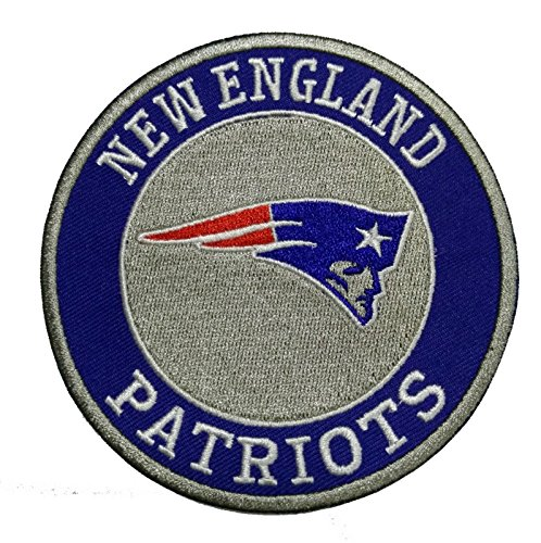 """New England Patriots 4"""" NFL Football Team Round Iron on Jersey Patch"""