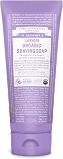 Dr. Bronner's - Organic Shaving Soap (Lavender, 7 Ounce) - Certified Organic, Sugar and Shikakai Powder, Soothes and Moisturizes for Close Comfortable Shave, Use on Face, Underarms and Legs