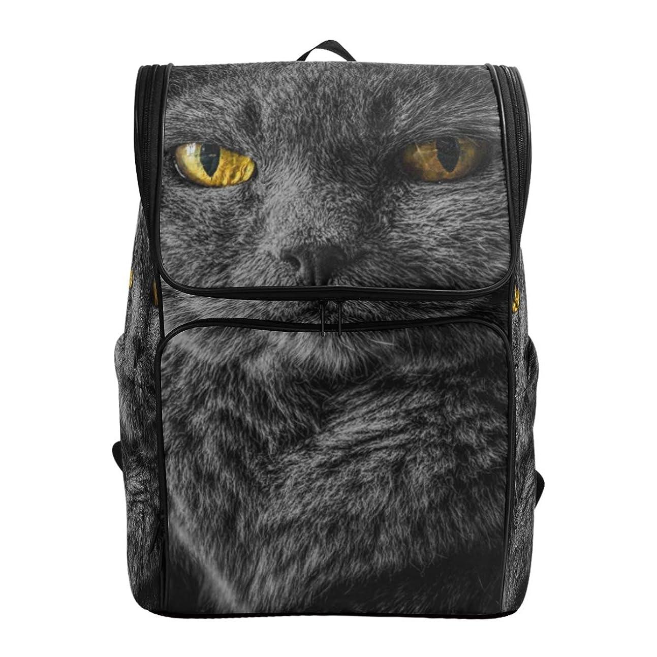 霧深いラウンジシネウィマキク(MAKIKU) リュック 大容量 メンズ 猫柄 黒猫 リュックサック 軽量 レディーズ 登山 通学 通勤 旅行 プレゼント対応