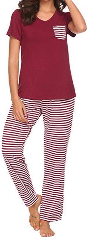 Cicilin Women's Pajama Set Summer T-Shirt Top & Shorts Soft Modal Sleepwear Set