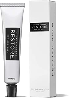 Doctor Rogers RESTORE Healing Balm - The Safe & Sustainable Way To RESTORE Your Skin, Lips & Nails from irritation and injury. Plant-based, Hypoallergenic, Dermatologist Created - .5oz Tube