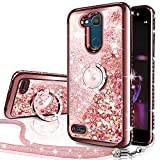 Silverback LG Xpower 3 Case, LG X Power 2 / X Charge 2 / Fiesta 2 / Fiesta LTE Case, Moving Liquid Holographic Sparkle Glitter Case with Kickstand, Bling Slim Protective Case for LG X Power 3 -RD