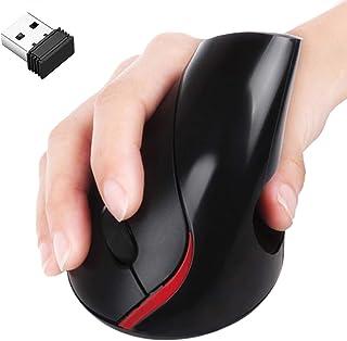 OKPOW Mouse Inalámbrico,2.4G ratón óptico Ergonómico 800/1200/1600 DPI Ratón Vertical 5 Botones para Computadoras Por...