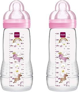 Mam - Botella y la tetina de flujo rápido, 330 ml, paquete de 2, colores aleatorios
