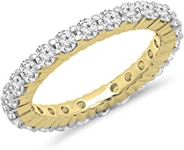 1.00 Carat (ctw) 18K Gold Round Diamond Ladies Eternity Wedding Anniversary Stackable Ring Band