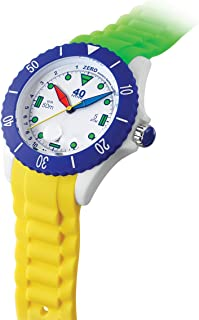 40Nine Japanese-Quartz Watch with Silicone Strap, Green, 21.3 (Model: 40NINE02/FUN30)