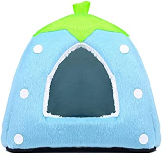 Echo Paths Strawberry Soft Tent Bed Cute Sponge Puppy Cat Cave Dog House for Pets