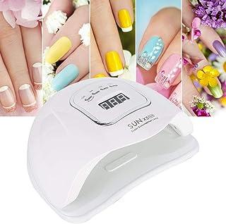 Lámpara de uñas, secador de uñas 150W Gel esmalte de uñas Luz UV LED Hogar y salón Máquina de secado de gel de curado rápido de uñas Adecuado para uñas de manos y pies(UE)