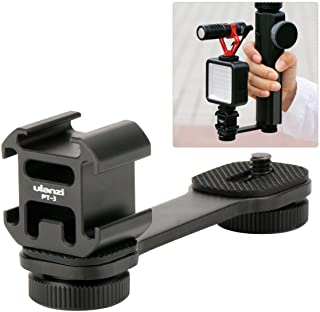 Ulanzi PT-3 Triple Cold Shoe Mounts Plate,Microphone Led Video Light Stand Extension Compatible for DJI OSMO Mobile 2/Zhiyun Smooth 4/Feiyu Vimble 2 Gimbal Stabilizer
