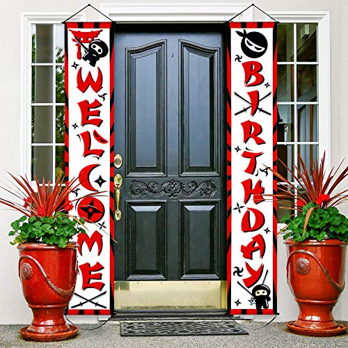 Happy Birthday Banner Party Supplies Decorations Porch Sign for Banner Hanging Decoration for Indoor/Outdoor Decoration Party