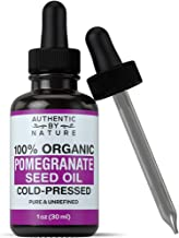 Organic Pomegranate Seed Oil. 100% Pure Unrefined Cold Pressed Essential Oil. Unclog Pores, Remove Dirt, Acne From Skin. Nourishes Hair and Scalp. Natural Antioxidant Moisturizer For Men + Women 1oz