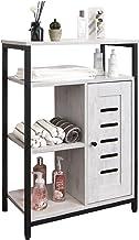 خزانة تخزين الحمام من ليلينكي، منظم خزائن أرضية مستقلة مع 3 أرفف مفتوحة وخزانة واحدة، خزانة تخزين خشبية صناعية للحمام والم...