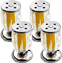 WYBW Meubelsteunpoten, 4 stuks meubelpoten tafelpoten sofa-poten meubelpoten kristaltransparante poten reservemeubels rise...